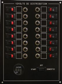 16 WAY STANDARD PANEL WITH VOLTMETER